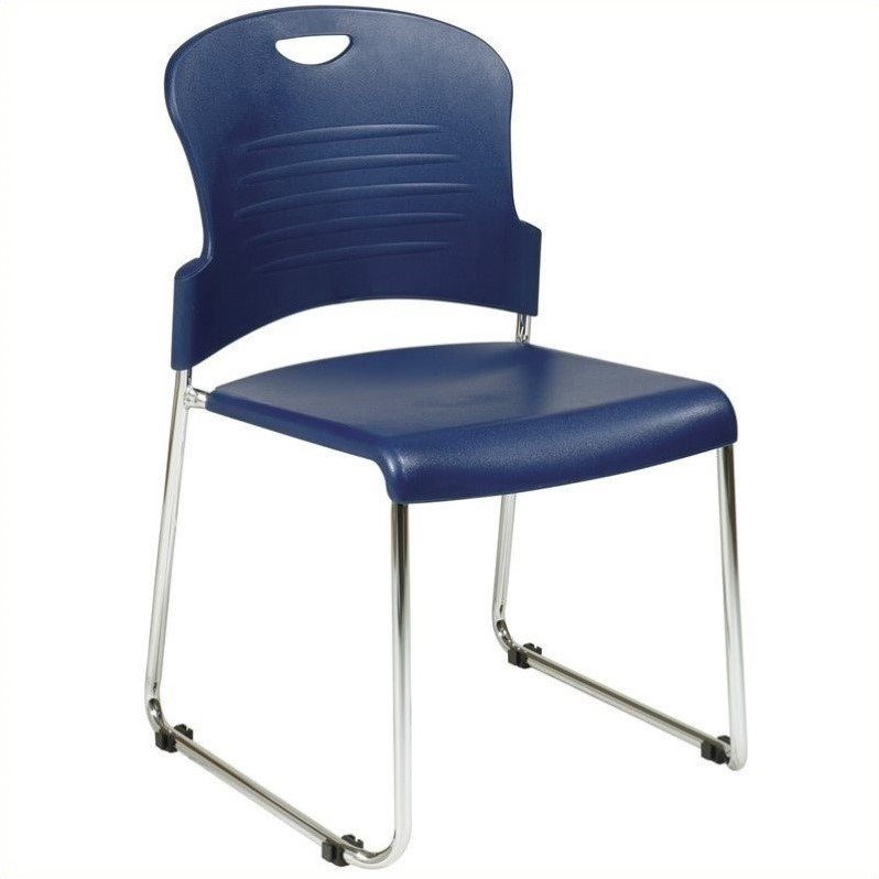 STC Series Stacking Chair in Navy (Set of 30)