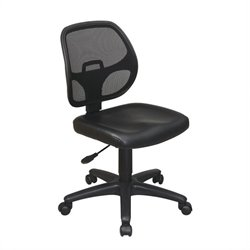 Office Star Mesh Screen Back Task Office Chair with Vinyl Seat