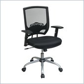 Office Star Screen Back Chair with Mesh Seat and Adjustable Arms
