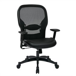Office Star 24 Series Breathable Mesh Back Office Chair in Black