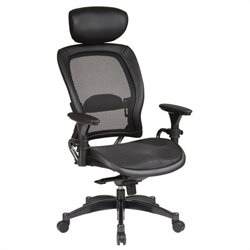 Office Star SPACE Collection: Matrex Back and Seat Ergonomic Office Chair with Headrest