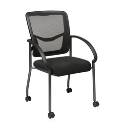Office Star ProGrid Back Visitors Guest Chair in Coal