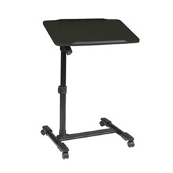 Office Star Adjustable Top Mobile Laptop Cart in Black