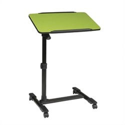 Office Star Adjustable Top Mobile Laptop Cart in Green