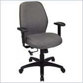 Office Star Work Smart 2-to-1 Synchro Tilt Managers Chair with Adjustable Padded Arms
