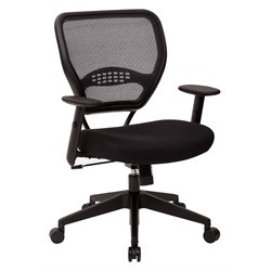 Office Star SPACE AirGrid Back Managers Office Chair with Black Mesh Fabric