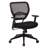 Office Star SPACE AirGrid Back Managers Chair with Black Mesh Fabric