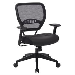 Professional Dark Air Grid® Back Managers Office Chair Black Eco Leather Seat