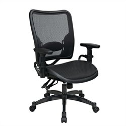 Office Star 62 Series Ergonomics AirGrid Seat and Back Office Chair in Black