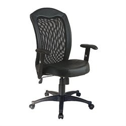 Office Star Black Screen Back Desk Office Chair