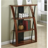 Office Star Aurora Bookcase with Powdercoated Black Accents