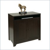 Office Star Dennison Workstation in Coffee Bean Finish