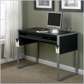 Office Star Elara Computer Desk with Reversible Silver/Black Top