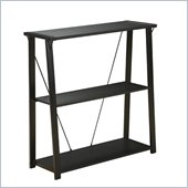 Office Star Orion Powder Coated Black Metal Frame Bookcase in Black