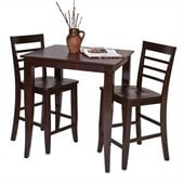 Office Star Jamestown 3 Piece Pub Set in Espresso