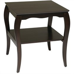 Office Star Brighton End Table in Mahogany