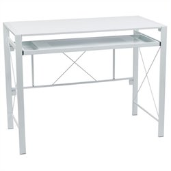 Office Star Creston Desk in White