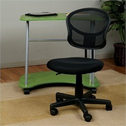 Office Star OSP Designs Seating Mesh Task Office Chair in Black