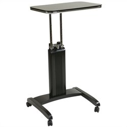 Office Star Precision Adjustable Laptop Stand in Black