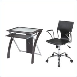 Office Star X-Text Computer Desk and Dorado Vinyl Office Chair
