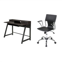 Office Star Arcadia Writing Desk and Dorado Vinyl Office Chair