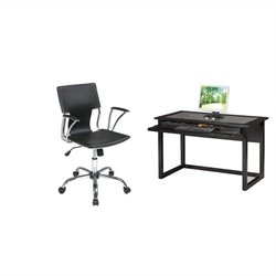 Office Star Meridian Computer Desk and Dorado Vinyl Office Chair