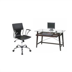 Office Star Tribeca Computer Desk and Dorado Vinyl Office Chair