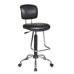 Office Star Work Smart Drafting Chair with Footrest in Black