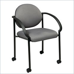 Office Star STC Stack Chairs with Casters and Arms