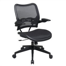 Office Star 13 Series AirGrid Seat and Back Office Chair with Arms in Black