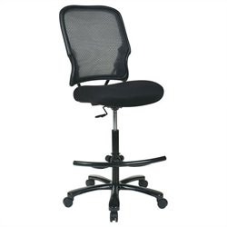 Office Star 15 Series AirGrid Back with Mesh Drafting Chair in Black