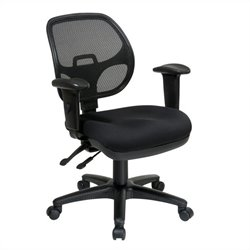 Office Star Ergonomic Task Office Chair with Adjustable Arms in Coal