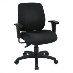 Office Star Deluxe Task Office Chair with Ratchet Back Height in Coal