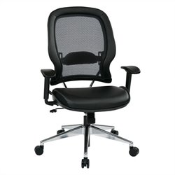 Office Star 335 Series Air Grid Back Office Chair with Eco Leather Seat