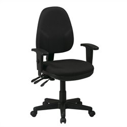 Office Star Dual Function Ergonomic Office Chair in Black
