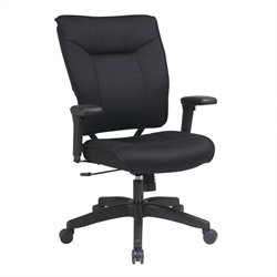Office Star 37 Series Mesh Executive Office Chair in Black