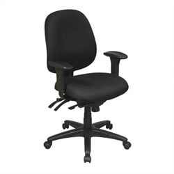 Office Star Mid Back Multi Function Ergonomics Office Chair in Black
