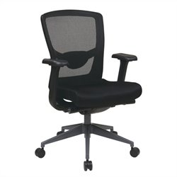 Office Star Executive ProGrid Back Office Chair in Black