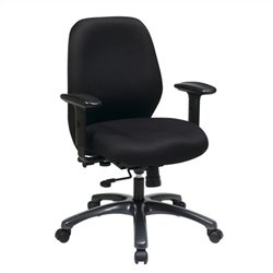 Office Star 54666 Series Ergonomic Office Chair in Black