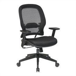 Office Star 55 Series AirGrid Back and Mesh Seat Office Chair in Black
