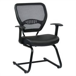 Office Star 57 Series Air Grid Back Guest Chair in Black