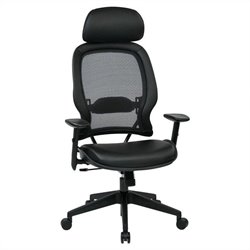 Office Star 579 Series Air Grid Office Chair with Adjustable Headrest in Black