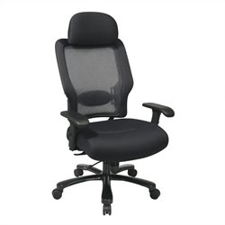 Office Star 63 Series AirGrid Back and Black Mesh Office Chair in Black