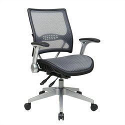 Office Star 67 Series AirGrid Back Office Chair in Platunum and Black