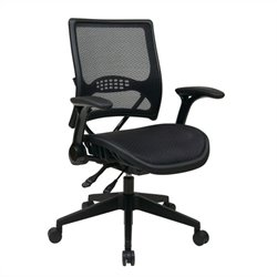 Office Star 67 Series AirGrid Back and Seat Managers Office Chair in Black