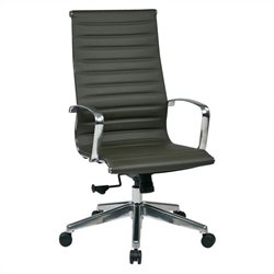Office Star High Back Eco Leather Office Chair in Grey