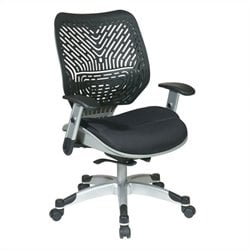 Office Star 86 REVV Series SpaceFlex Back Office Chair in Platinum