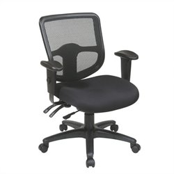 Office Star Ergonomic Task Office Chair with ProGrid Back in Coal