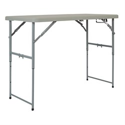Office Star Adjustable Folding Multi Purpose Table in White