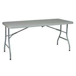 Office Star Multi Purpose Center Fold Table in White